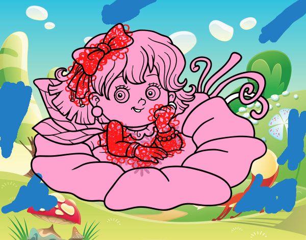 Fata su un fiore