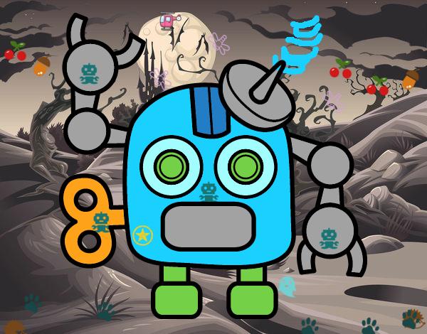 Robot con antenna