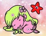 Sirenetta chibi dormendo