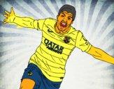 Suárez celebrare un gol