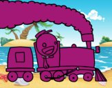 Treno con macchinista