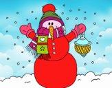 Un pupazzo di neve di Natale