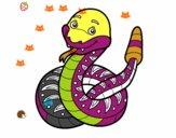 Un serpente a sonaglio