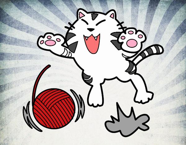 Gatto giocoso