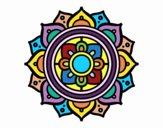 Disegno Mandala mosaico greco pitturato su marilu2113