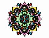 Disegno Mandala per rilassarsi pitturato su marilu2113