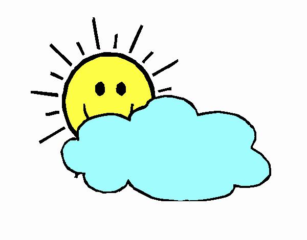 Sole con nuvola