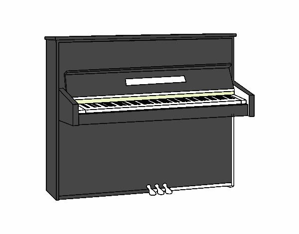 Un pianoforte verticale