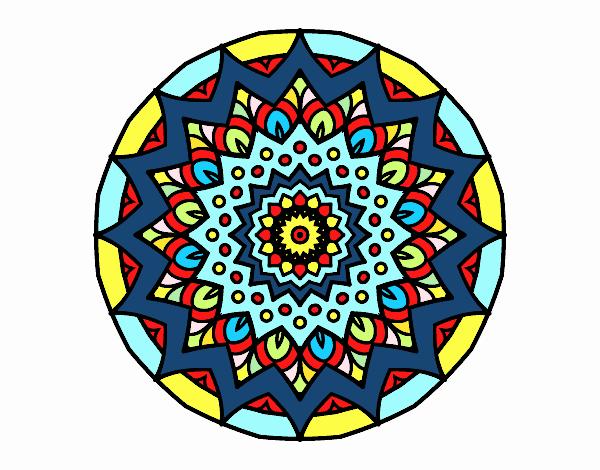 Disegno Crescente mandala pitturato su marilu2113