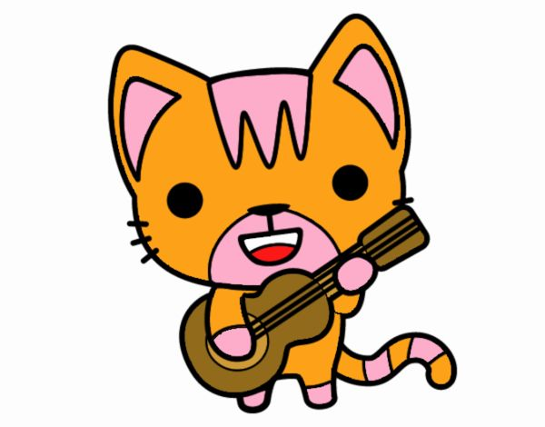 Gatto chitarrista