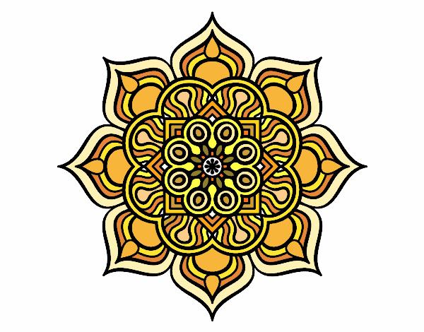 Mandala fiore di fuoco