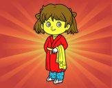 Bambina in pigiami