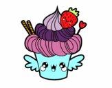 Cupcake kawaii con la fragola