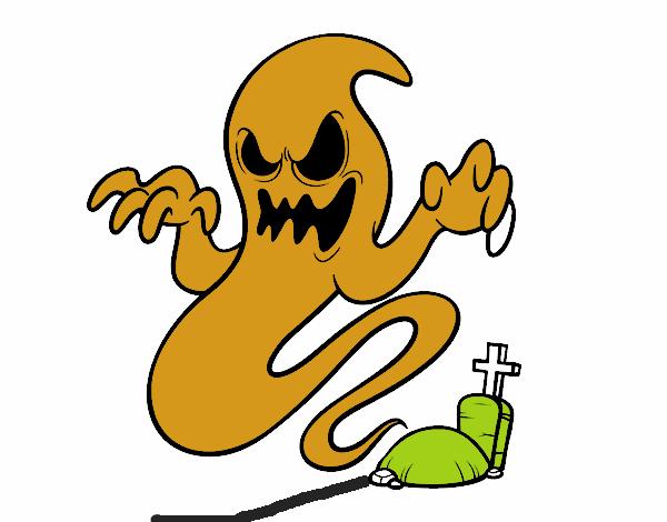 Disegno Fantasma Della Tomba Colorato Da Utente Non