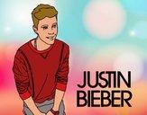 Disegno Justin Bieber pitturato su DavidCris
