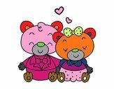 Orsacchiotti innamorati