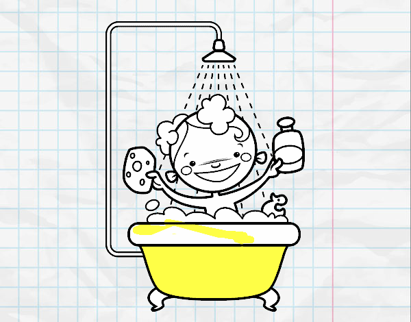 Ragazzo sotto la doccia