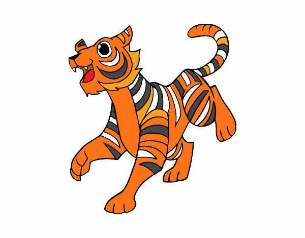 Disegno Tigre Reale Del Bengala Colorato Da Utente Non Registrato