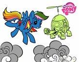 Rainbow Dash and Tank Turtle