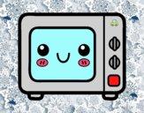 Un forno a microonde