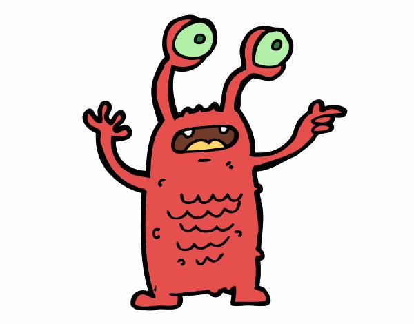 Extraterrestre con gli occhi sporgenti