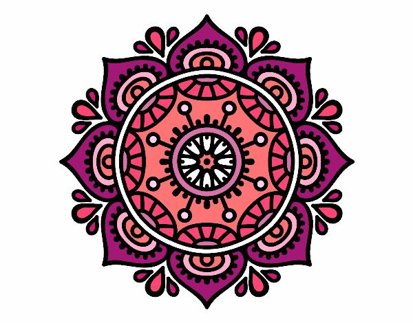 Disegno Mandala per rilassarsi pitturato su trilly