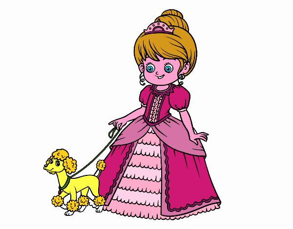 Principessa con cagnolino