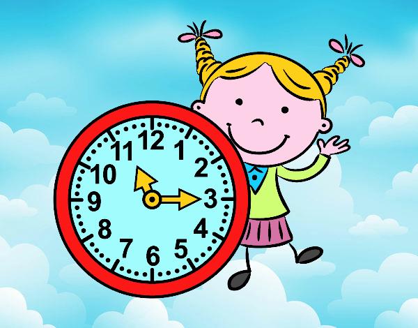 Ragazza con orologio