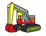 Disegno Una scavatrice pitturato su Drilli