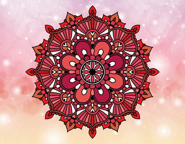 Mandala flash florale