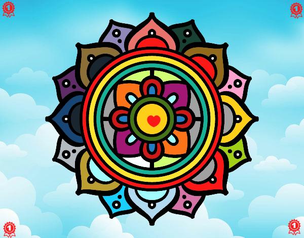 Mandala mosaico greco
