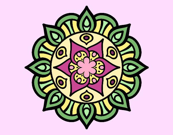 Mandala vita vegetale