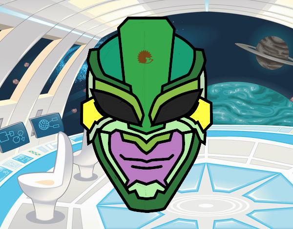 Disegno Maschera Di Supereroe Colorato Da Utente Non