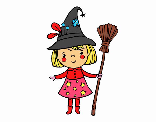 strega della bambina Halloween
