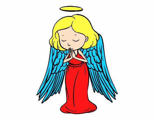 Un angelo che prega