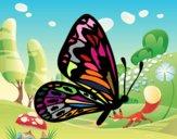 Farfalla ali normale