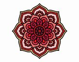 Mandala fiore di la concentrazione