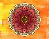 Mandala fiore e fogli