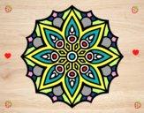 Mandala semplice simmetria