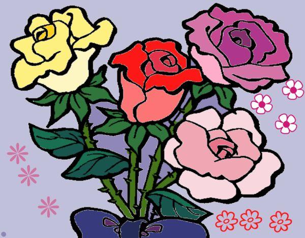 Disegno Mazzo Di Rose Colorato Da Utente Non Registrato Il 17 Di