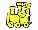 Treno con giraffa