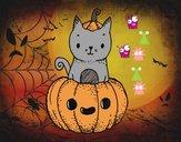 Un gattino di Halloween