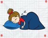 Bambina addormentata