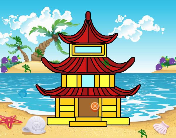 Disegno casa tradizionale giapponesa colorato da utente for Casa tradizionale mogoro