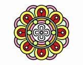 Mandala fiore creativo