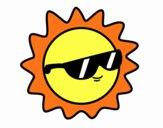 Sole con gli occhiali