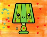 Una lampada da tavolo
