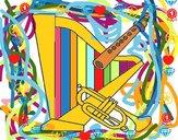 Arpa, flauto e tromba