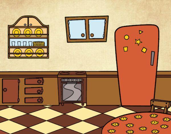 Disegno cucina tradizionale colorato da utente non for La casa toscana tradizionale