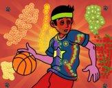 Giovane giocatore di basket